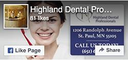 Facebook Like - Highland Dental